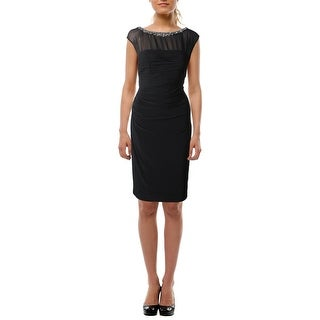 Lauren Ralph Lauren Womens Cocktail Dress Embellished Sleeveless