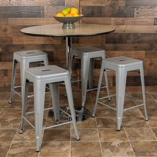 Metal Stackable Counter Bar Stool (Set of 4)