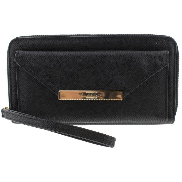 Tahari Womens Bar-Rowing Funds Wristlet Wallet Faux Leather Organizational - o/s