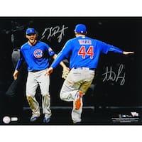 Anthony Rizzo  Kris Bryant Dual Chicago Cubs 2016 World Series Spotlight Celebration 16x20 Photo