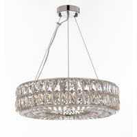 "Crystal Spiridon Ring Chandelier Modern / Contemporary Lighting Pendant 20"" Wide"