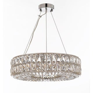 "Crystal Spiridon Ring Chandelier Modern / Contemporary Lighting Pendant 20"" Wide"