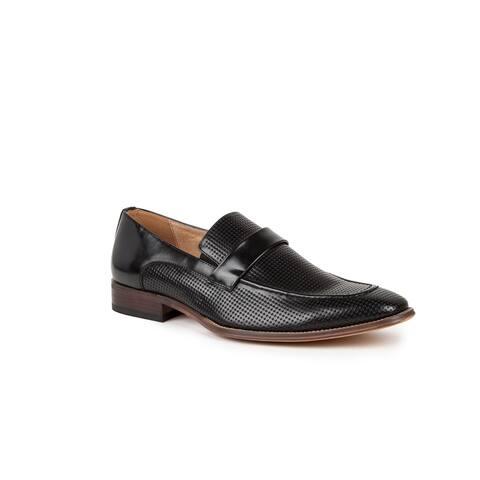 Gino vitale Men's Moc Toe Slip-on Dress Loafers