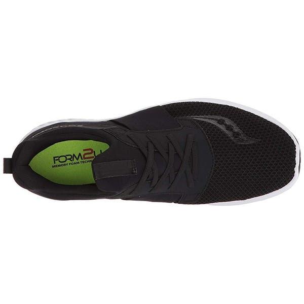 049fa6b0d60ec Shop Saucony Men's Stretch N Go Breeze Running Shoe, Black, 12 ...
