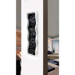 Statements2000 Black/Silver Modern Metal Wall Art Accent Sculpture Decor by Jon Allen - Chaotic