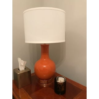 Safavieh Lighting 28 Inch Louvre Orange Table Lamp 15 X15 X27 5 On Sale Overstock 6575371