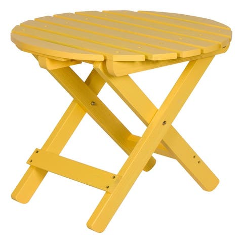 19.5 inch Round Adirondack Folding Table with HYDRO-TEX finish