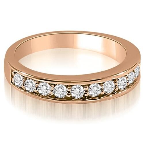 0.65 cttw. 14K Rose Gold Classic Round Cut Diamond Wedding Ring