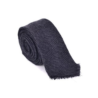 "Dolce & Gabbana Mens Dark Grey Inverted Chevron Print Wool 2"" Blade Tie"