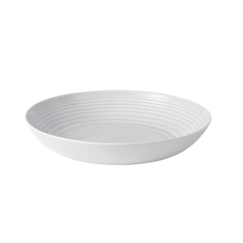 Maze White 11.8-inch Serving Bowl