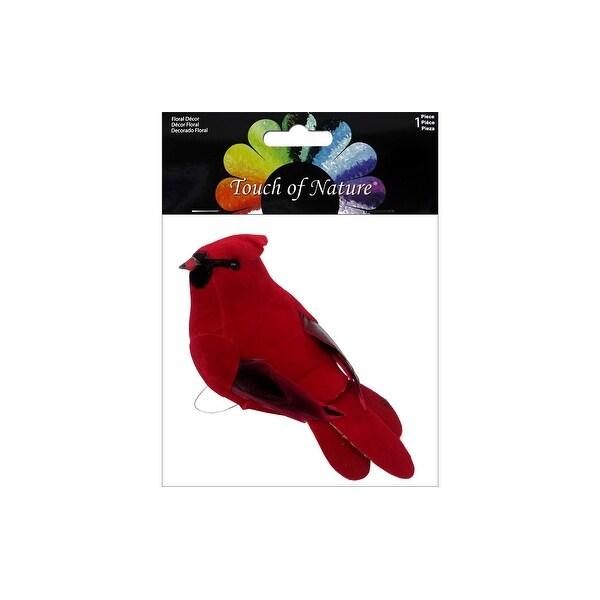 "Midwest Design Bird 4.5"" Feather Cardinal 1pc"