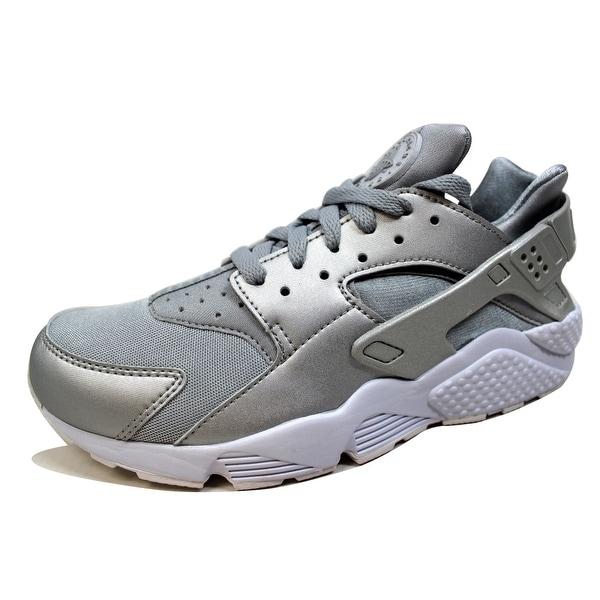 f09fb6d9e38a Nike Men  x27 s Air Huarache Run Premium Metallic Silver 704830-008 Size