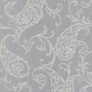 Brewster 295-66507 Monireh Silver Fish Paisley Wallpaper