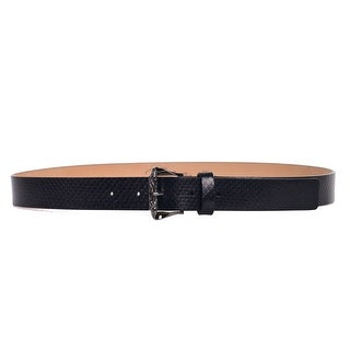 Roberto Cavalli White Smooth Leather Carved Buckle Belts