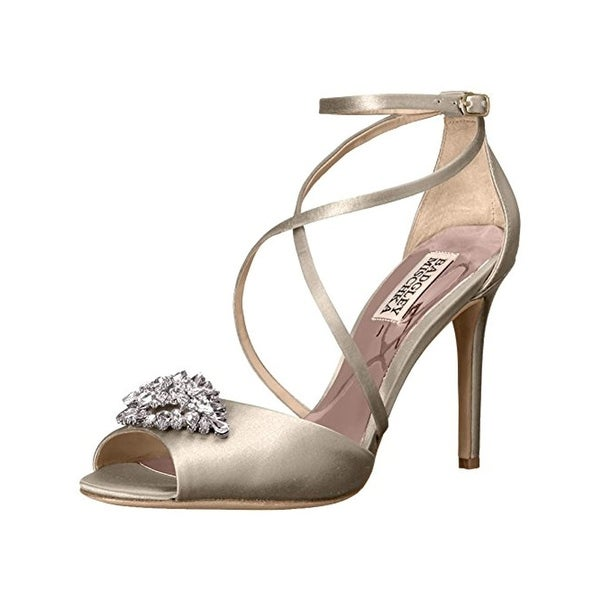 9ca2cee239a0 Shop Badgley Mischka Womens Tatum Open-Toe Heels Embellished Ankle ...