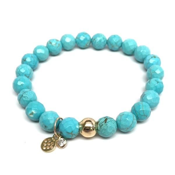 """Turquoise Magnesite Zoe 7"""" Bracelet"""