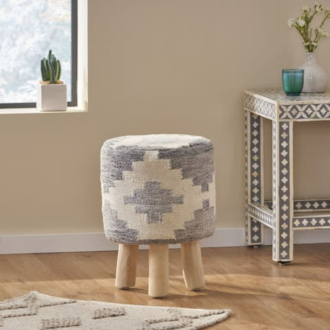 Enos Handcrafted Boho Stool by Christopher Knight Home