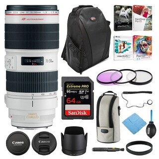 Canon EF 70-200mm f/2.8L IS II USM Telephoto Lens with 77mm Filter Bundle