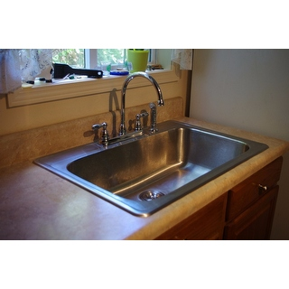 Stainless Steel 33 Inch Self Rimming Drop In Single Bowl