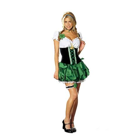 Sexy Maid St. Patricks Day Good Luck Charm Costume Adult - Green