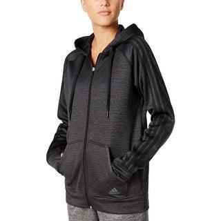 Adidas Womens Hoodie Heathered Full-Zip - XS