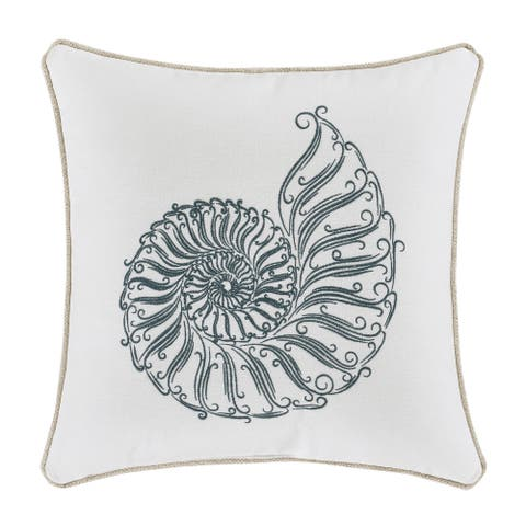 Five Queens Court William 17 Inch Square Decorative Throw Pillow