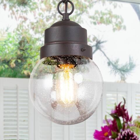 "Rusty Farmhouse Mini Globe Outdoor Pendant Lights Wall Sconces Lamp - D 6"" x H 10.5"""