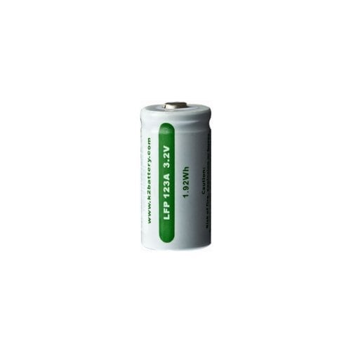 K2 Energy LFP123A Rechargeable Li Ion 3.2V Battery Replaces CR123A - Single
