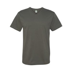 Adult V-Neck Fine Jersey Tee - Charcoal - S