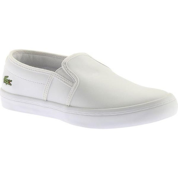 345fde4b8 Shop Lacoste Women s Gazon Leather Slip-On White Leather - On Sale ...