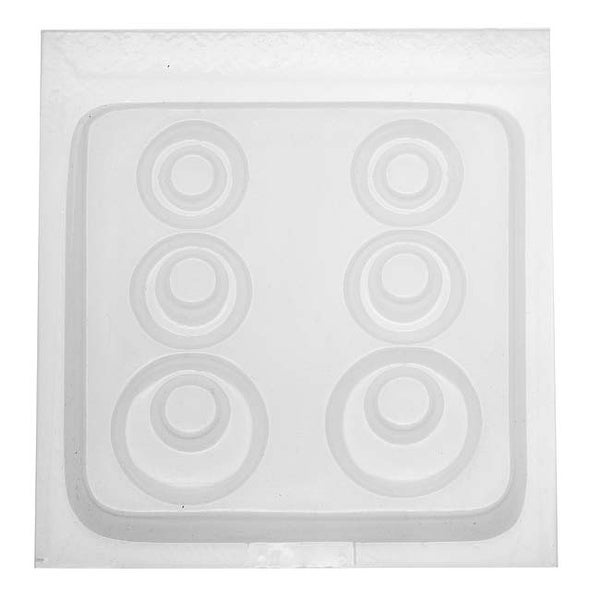 Resin Epoxy Mold For Jewelry Casting - 3 Pair Open Round Earrings