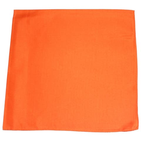 Mechaly Premium Polyester XL Extra Large Solid Bandana - 27 x 27 Inches - 6 Pack - One Size Fits Most