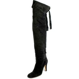 Chloe Fringe Cuissar Round Toe Suede Over the Knee Boot