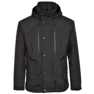 RALPH LAUREN RL Hooded Black Windbreaker Jacket Large L Waterproof $1,695
