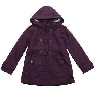 Richie House Girls' Padding Jacket with Attachable Hood