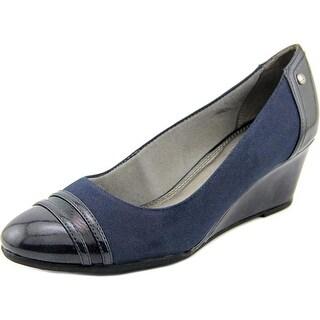 Life Stride Juliana Women W Open Toe Synthetic Blue Wedge Heel
