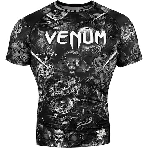 Venum Art Short Sleeve Compression Rashguard - Black/White