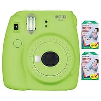 Fujifilm Instax Mini 9 (Lime Green) Instant Camera  with Instax Mini Film (40 Sheets)
