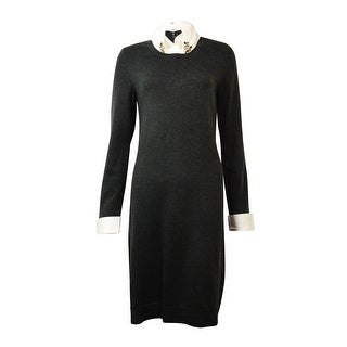 INC International Concepts Women's Embellished Collared Sweater Dress