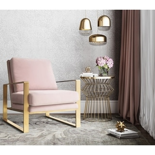 Link to Mott Blush Velvet Chair Similar Items in Accent Chairs