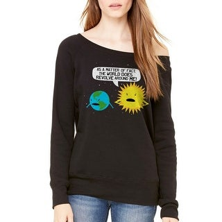Humor World Revolves Women's Black Sweatshirt