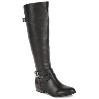 Material Girl Womens carleigh Wide Calf Pointed Toe Knee High Fashion Boots - 5.5