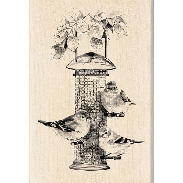 "Inkadinkado Mounted Rubber Stamp 4""X2.75""-Bird Feeder"
