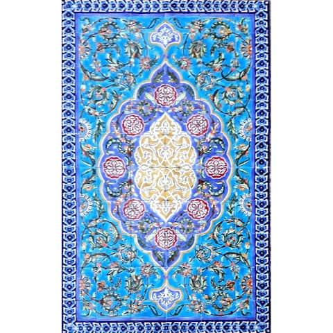 36in x 60in Persian Design Area Rug 60pc Tile Ceramic Wall Mural