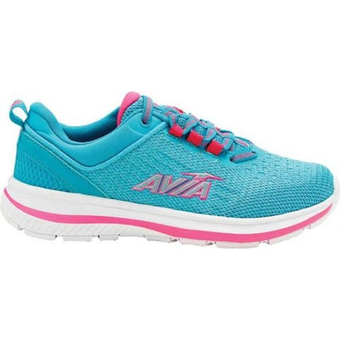 Avia Girls' Avi-Factor Sneaker Scuba Blue/Pink Sizzle/Bright White