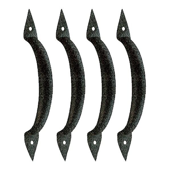 4 Door Pull Spike Black Wrought Iron 6 3/8 H X 1 1/4 W | Renovator's Supply