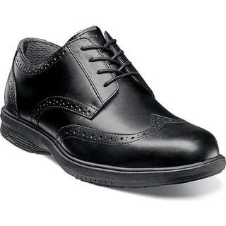 Nunn Bush Men's Maclin St. Wing Tip Oxford Black Leather