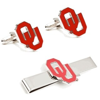 University of Oklahoma Sooners Cufflinks and Tie Bar Gift Set - Red