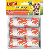 Scented - Glad Waste Disposable Bags 6/Rolls 90 Bags