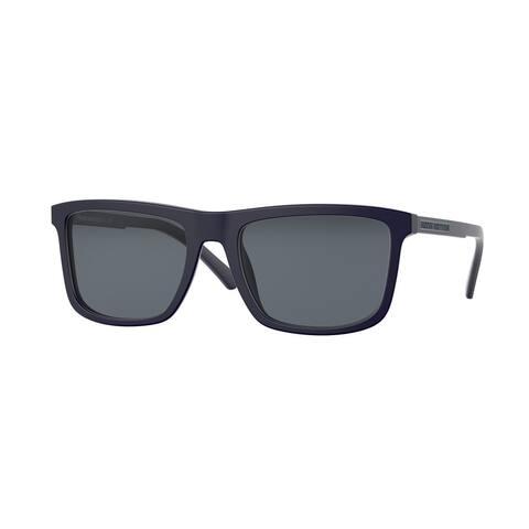 Brooks Brothers BB5044 603755 56 Matte Navy Man Rectangle Sunglasses